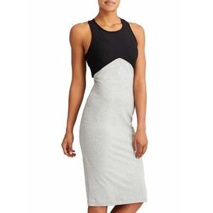 ATHLETA Black and Grey colorblock Dress